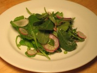 Farmhouse Salad with Purslane, Arugula, and Radishes