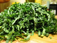 Raw lacitano kale for Kale and Ricotta Salata Salad