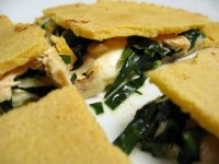 Chicken, Kale, and Shallot Quesadillas