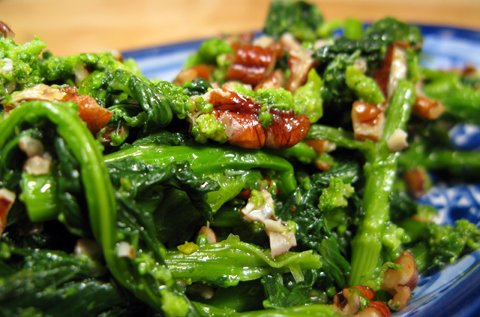 Broccoli Raab with Pecans