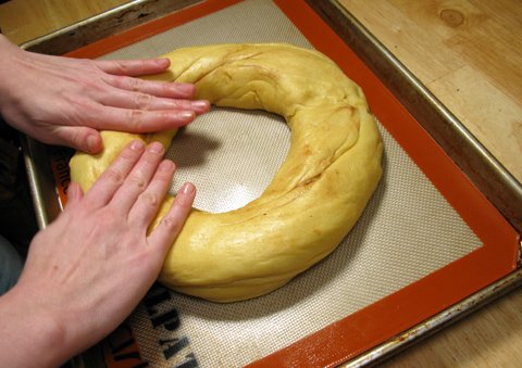 Forming the king cake ring