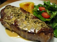 Strip steak au poivre