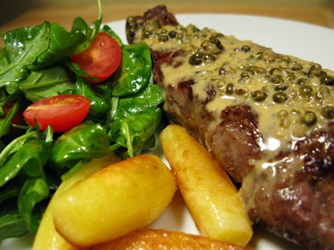 Steak au poivre - I can't stop posting pictures of this dish