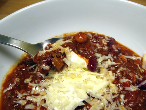 Easy Two Bean Chili with Masa Harina