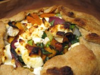 Winter Vegetable Crostata with Goat Cheese and Thyme