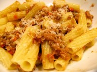 Bolognese Sauce with Rigatoni